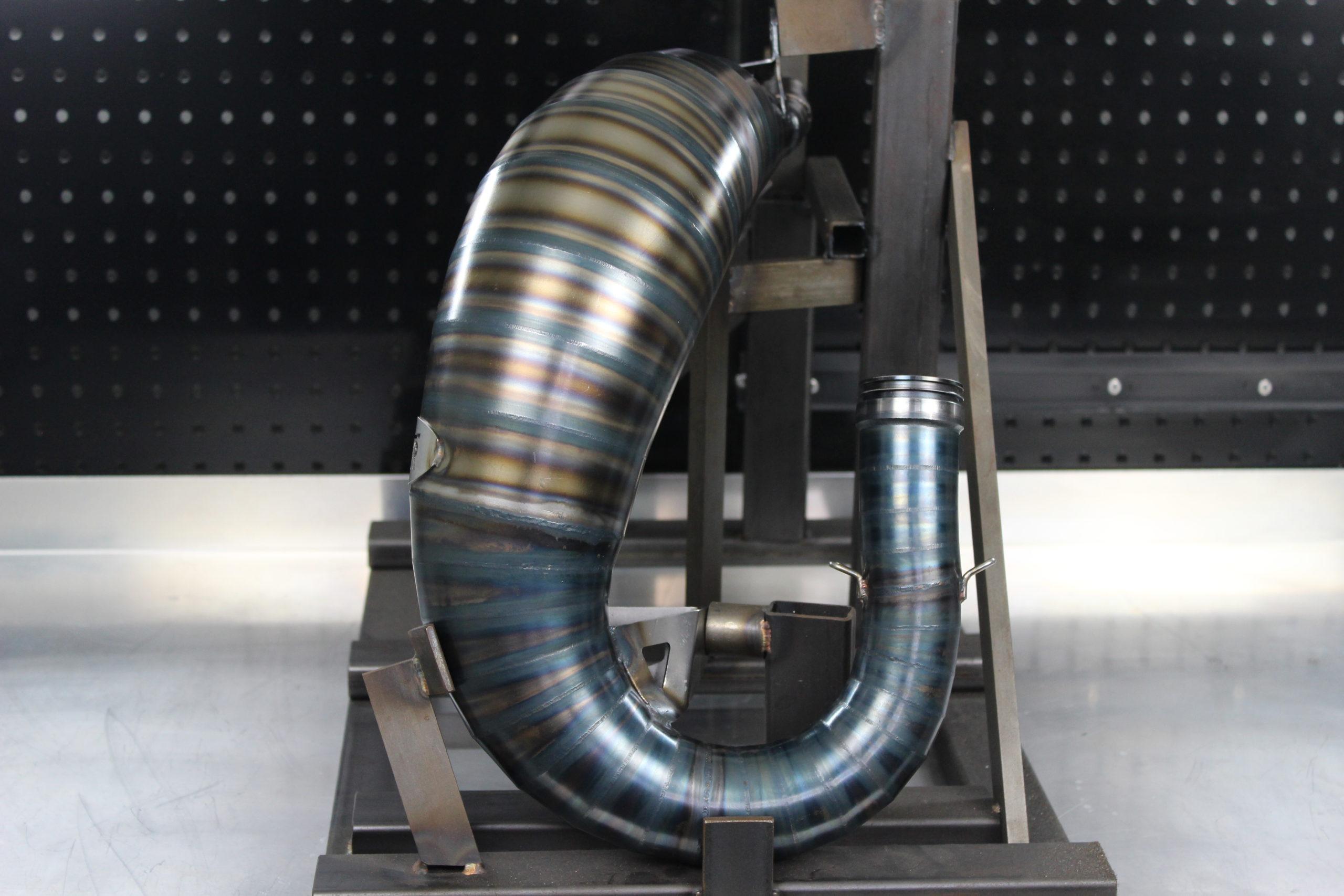 Tmr Performance Parts Ktm Husqvarna 125-150 ccm Auspuffanlage 2016 bis 2018 Ansicht 2